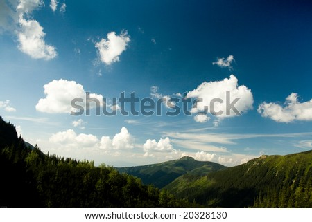 Peaceful nature in the mountain - stock photo