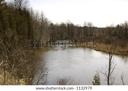 Peaceful River - stock photo