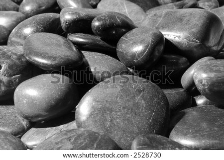 Peaceful River Rocks - stock photo