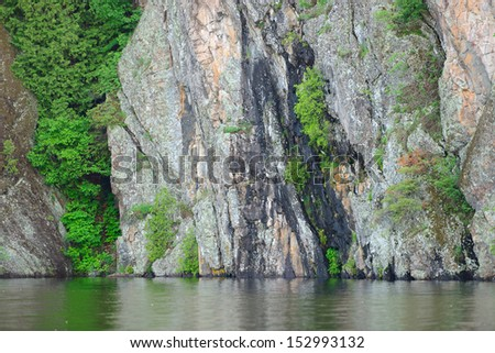 Peaceful scenery of Bon Echo Park in Canada - stock photo