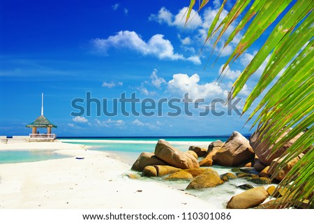 peaceful tropical scene - stock photo