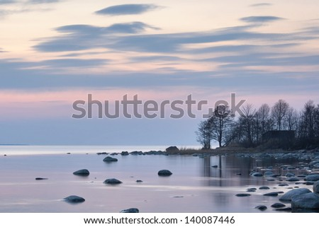Peaceful twilight - stock photo