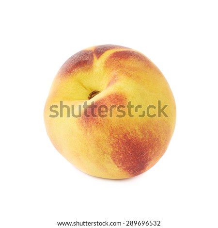 Peach fruit isolated over the white background - stock photo