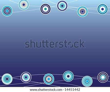 peacock dots - stock photo
