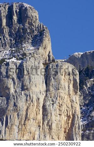 Peak in Ferrera Mountains, Pyrenees, Huesca, Aragon, Spain - stock photo