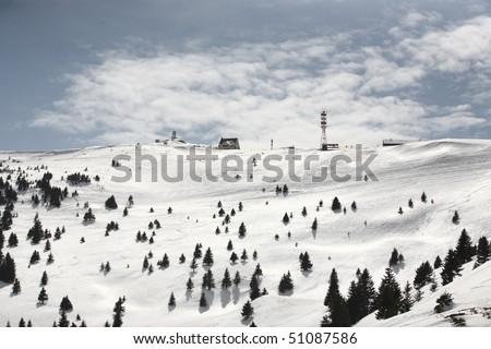 Peak of Kopaonik mountain, Serbia - stock photo