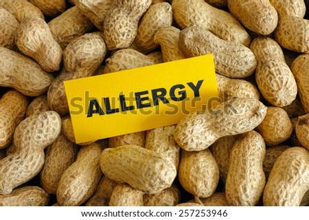 Peanut allergy. Conceptual image. - stock photo