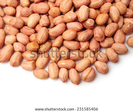 Peanut kernel isolated on white background