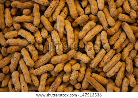 Peanut lot being sold in the market