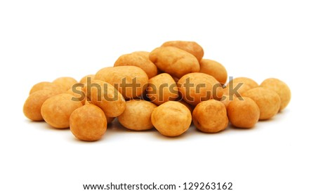 peanut on white background - stock photo