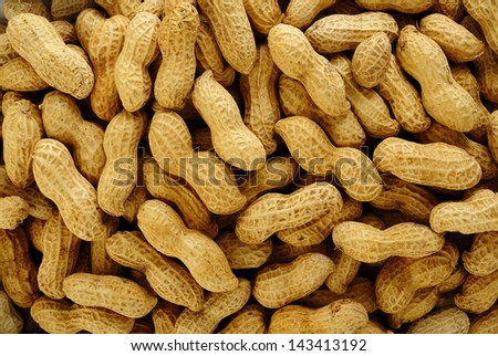 peanuts background - stock photo