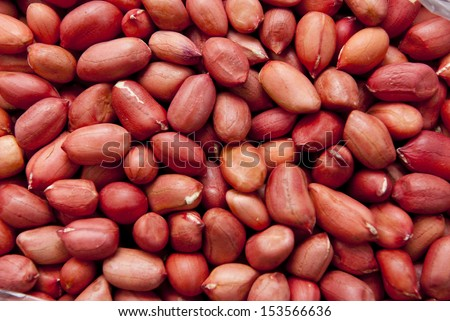 Peanuts, for backgrounds or textures - stock photo