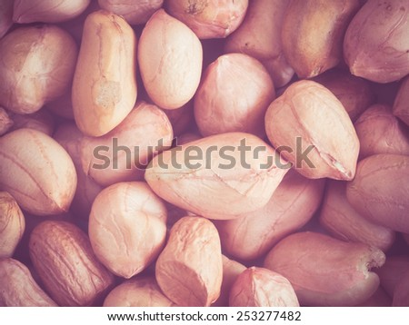 Peanuts peeled with filter effect retro vintage style - stock photo