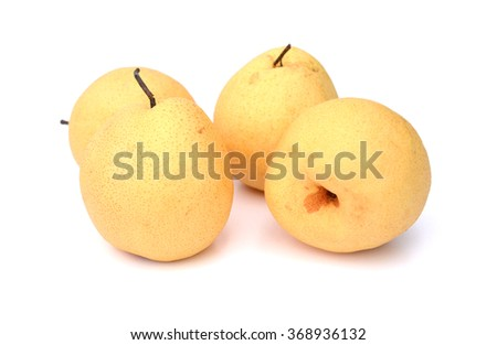 pear fruit on white background  - stock photo