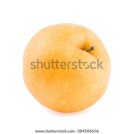 pear fruit on white background