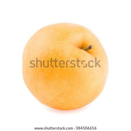 pear fruit on white background - stock photo