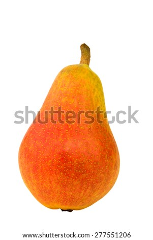 Pear isolated on a white background vitamins breakfast lunch dinner home kitchen organic health eco low weight - stock photo