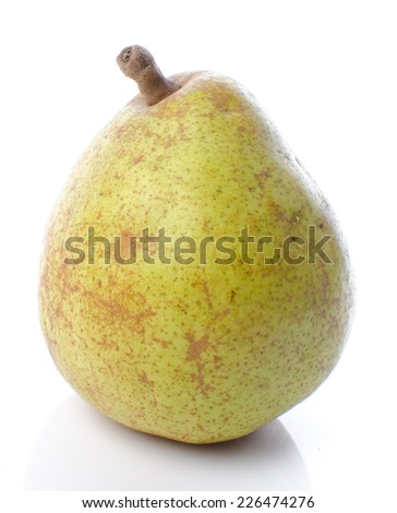 Pear, isolated on white
