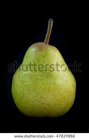 Pear on a black background - stock photo