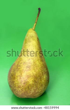 Pear on a green background