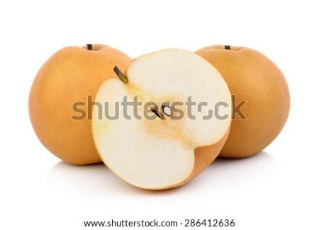 pear on white background - stock photo