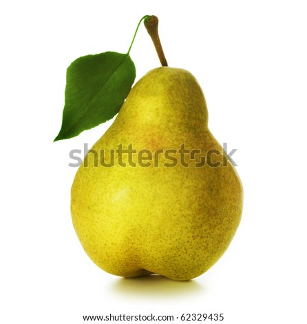 Pear over white - stock photo