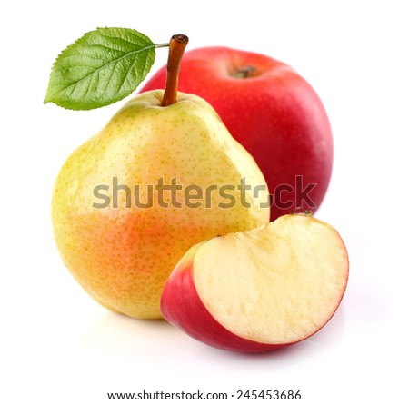 Pear with apple - stock photo