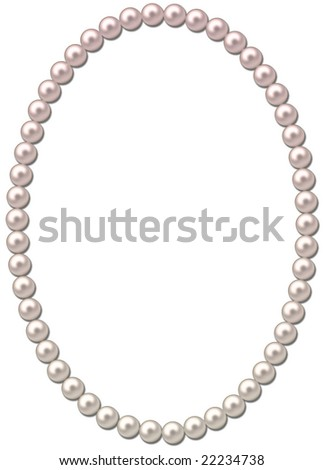 Pearl frame-necklace