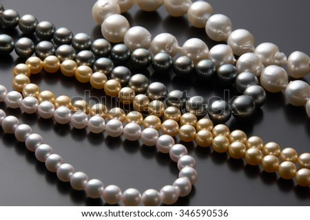 Pearl, necklace - stock photo
