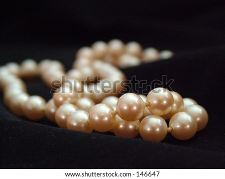 pearls on black background