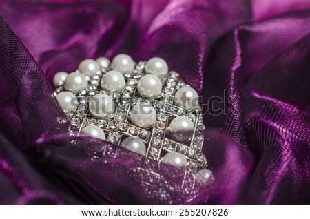 pearls on the tulle