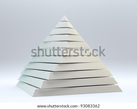 Pearly abstract 3d pyramid - stock photo