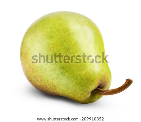 pears isolated on white background. Clipping Path - stock photo