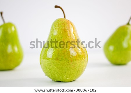 pears on a white background - stock photo