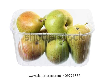 Pears on White Background - stock photo