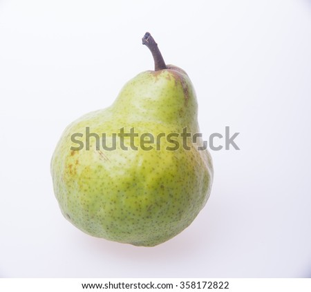 pears or green pears on a background - stock photo