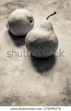 Pears/vintage still life - stock photo