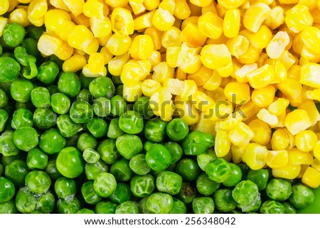 Peas and corn background - stock photo