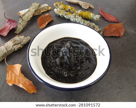 Peat pulp bath therapy - stock photo