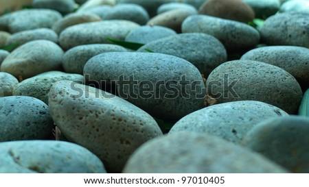 Pebble Stone, close-up - stock photo