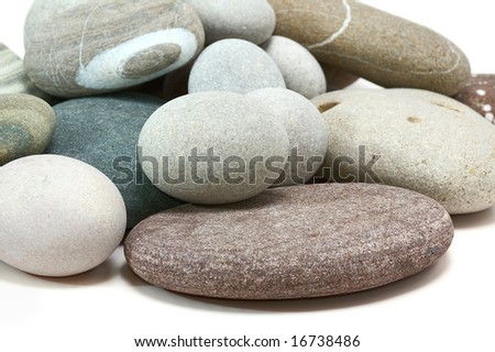 pebble stones on white