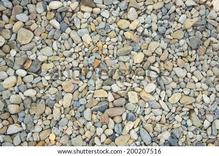 Pebble Stones. Seamless Tileable Texture. - stock photo