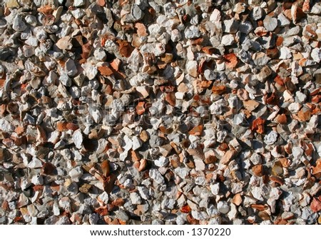 Pebbledash wall - stock photo