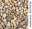 Pebbles as a background image - stock photo