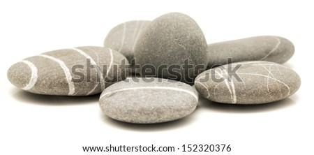 pebbles isolated on a white background - stock photo