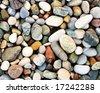 pebbles on a beach - stock photo