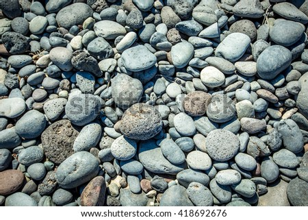 pebbles on Ibiza beach