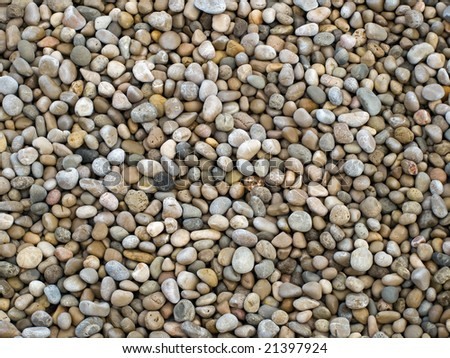 Pebbles pattern usable for texture or background. - stock photo