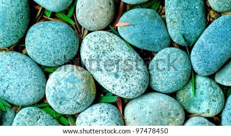 Pebbles, Spa - stock photo