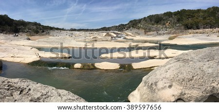 Pedernales Falls in Texas - stock photo